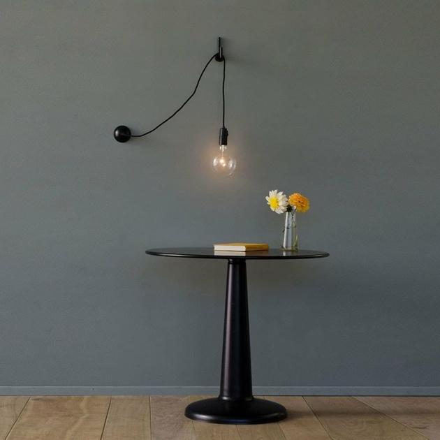 applique hook noir luminaire appliques design from paris. Black Bedroom Furniture Sets. Home Design Ideas