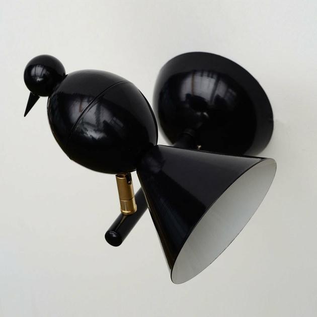 applique alouette noir luminaire appliques design from paris. Black Bedroom Furniture Sets. Home Design Ideas