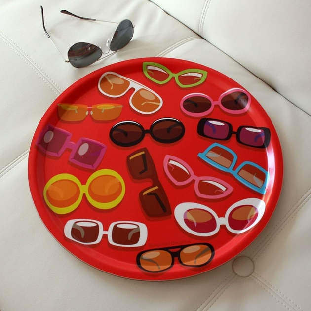 Grand plateau en bouleau sunglasses art de la table - Grand plateau de table ...