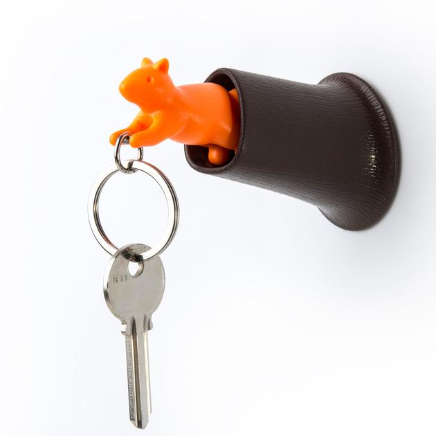 porte clefs mural avec pat re ecureuil accessoires. Black Bedroom Furniture Sets. Home Design Ideas