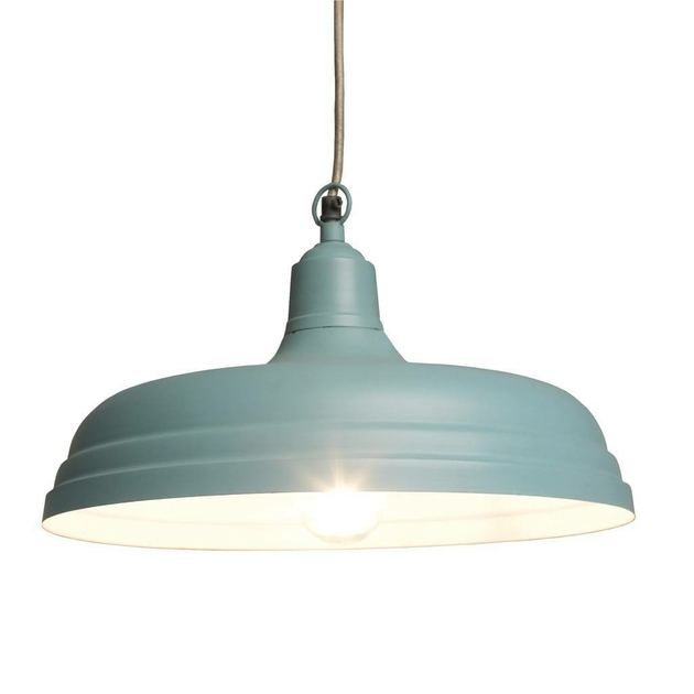 Grande suspension industrielle bleue luminaire for Grande suspension luminaire