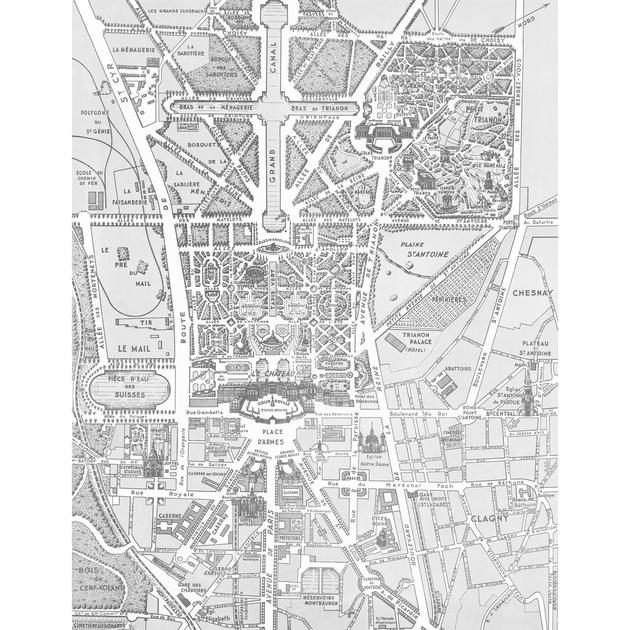 Papier peint panoramique 143180 versailles et ses - Papier peint graphique noir et blanc ...