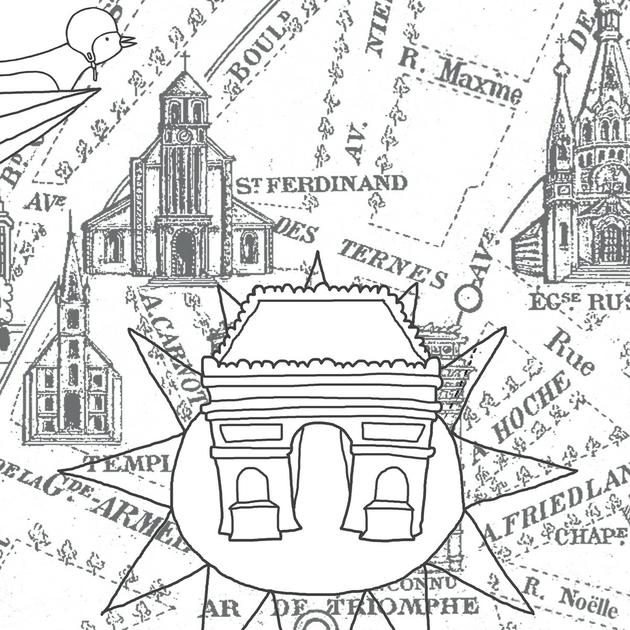 Papier Peint Panoramique Enfant 143182 Plan De Paris Monumentale à