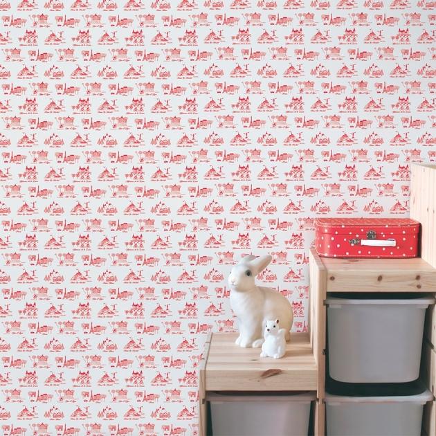 rouleau de papier peint 143185 bienvenue en france rose. Black Bedroom Furniture Sets. Home Design Ideas