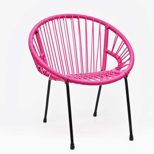 chaise tica scoubidou rose enfants mobilier enfants design from paris. Black Bedroom Furniture Sets. Home Design Ideas