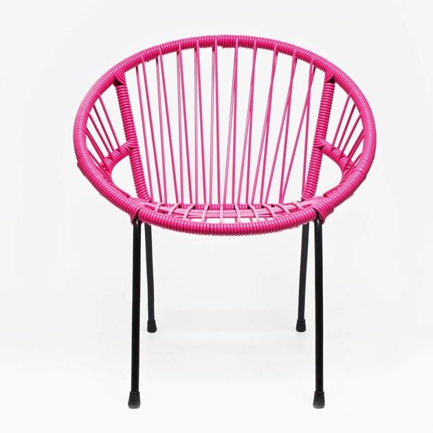 chaise tica scoubidou rose enfants mobilier enfants design from paris. Black Bedroom Furniture Sets. Home Design Ideas