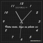 Horloge carrée 36 x 36 cm