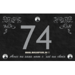 Numéro de maison 22 x 14 cm avec deux frises