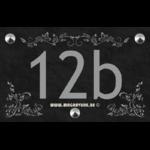 Numéro de maison 22 x14 cm avec trois frises
