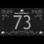 Numéro de maison 22 x 14 avec trois frises