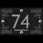 Numéro de maison 22 x 14 cm avec quatre frises