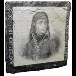 Napoléon 03 sur ardoise 10 x 10 cm.