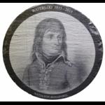Napoléon 03 sur ardoise ronde de 30 cm.