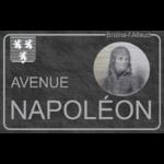 """Plaque de rue """"Avenue Napoléon"""" Braine-l'Alleud"""