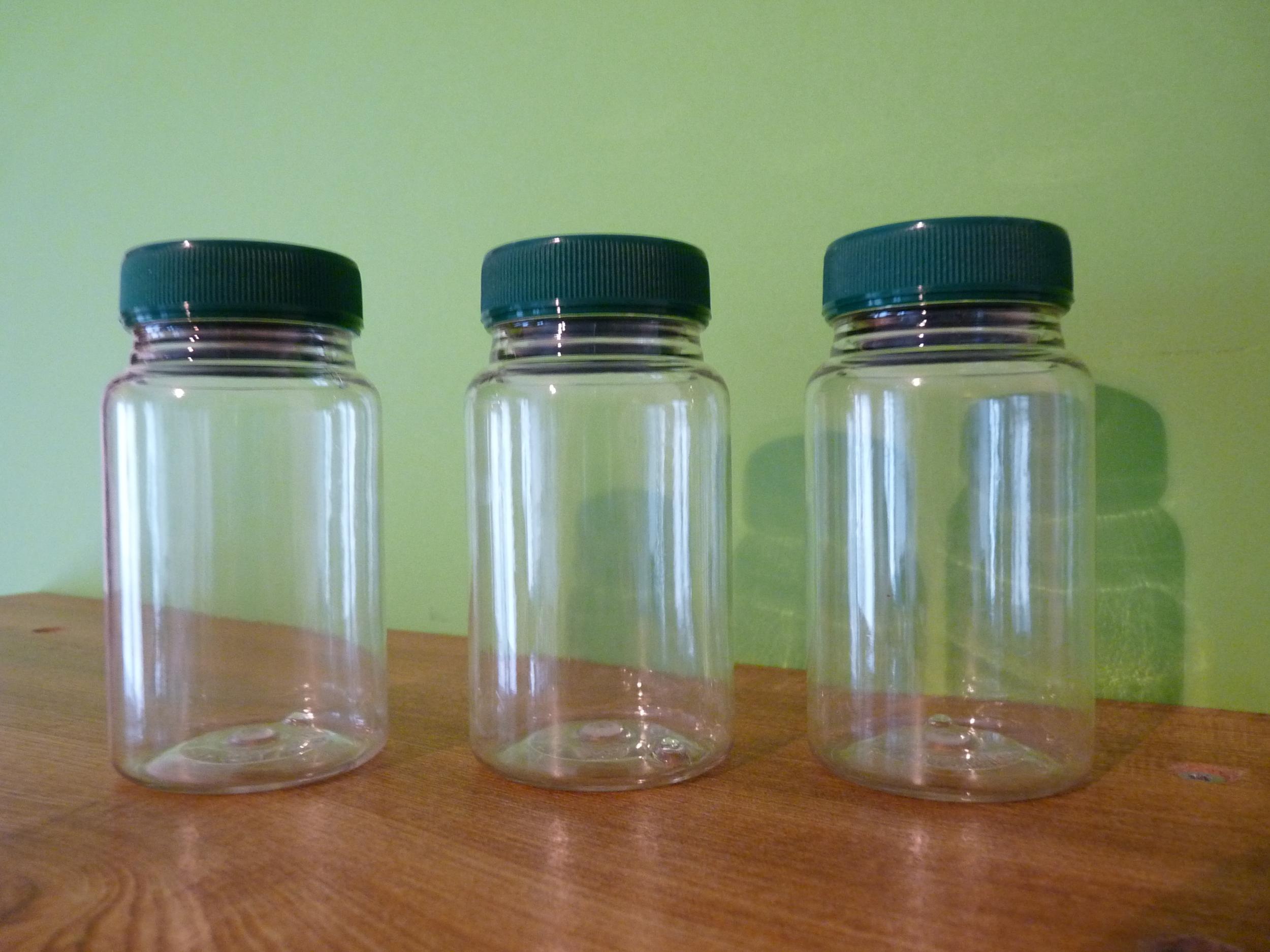 LOT DE 3 POTS A ÉPICES (avec étiquettes vierges)  100 ml