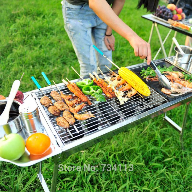 Acier-inoxydable-Barbecue-En-Plein-Air-Four-Nouveau-Charbon-De-Bois-Portable-Grill-Brochette-BARBECUE-Camping