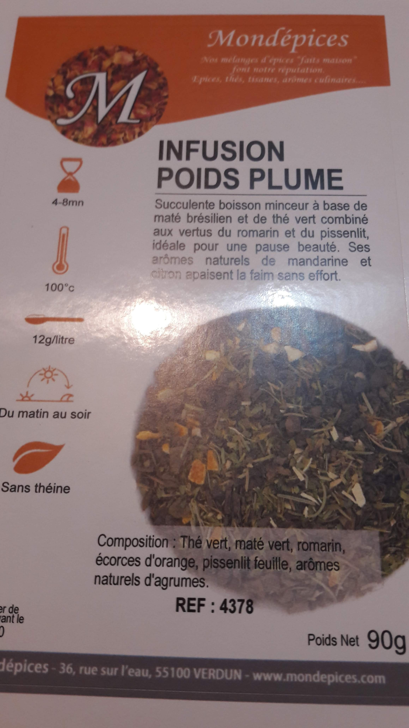 INFUSION POIDS PLUME 80 g