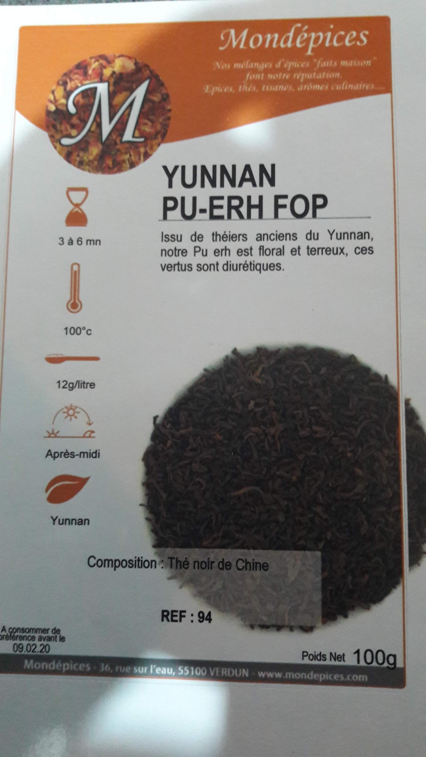 THE YUNNAN PU -ERH FOP 100 g