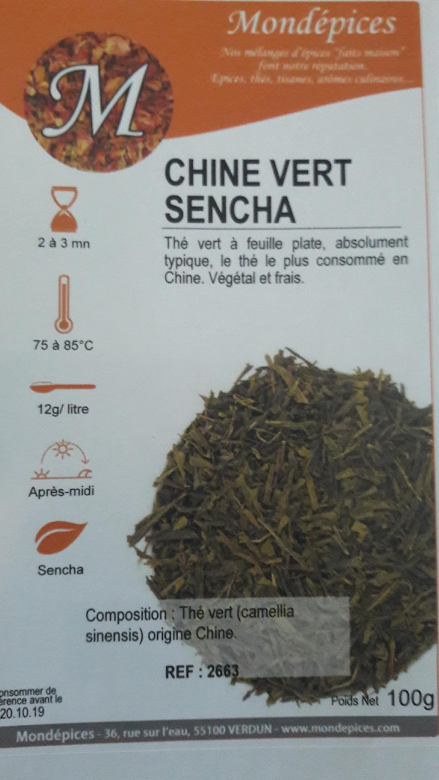 THE CHINE VERT SENCHA 100 g