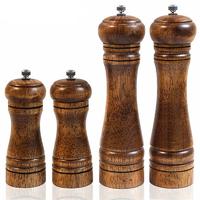 4 superbes moulins à poivres en bois