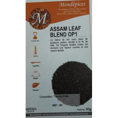thé assam leaf