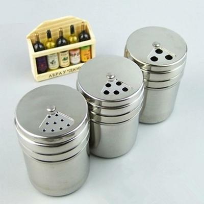 Vente-chaude-en-acier-Inoxydable-pices-Shaker-Pot-Sucre-Sel-Poivre-Herbes-Stockage-De-Cure-Dents