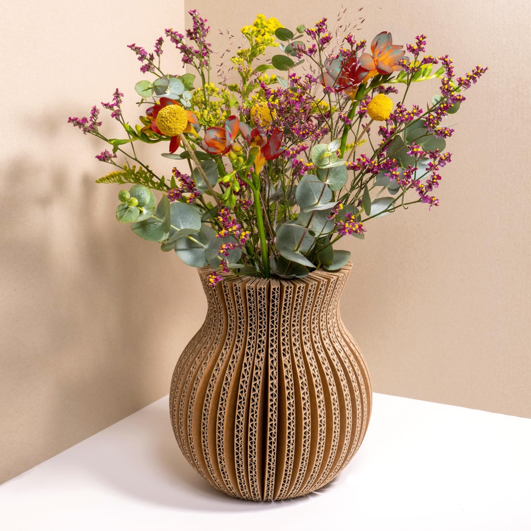 vase pliable en carton - classique