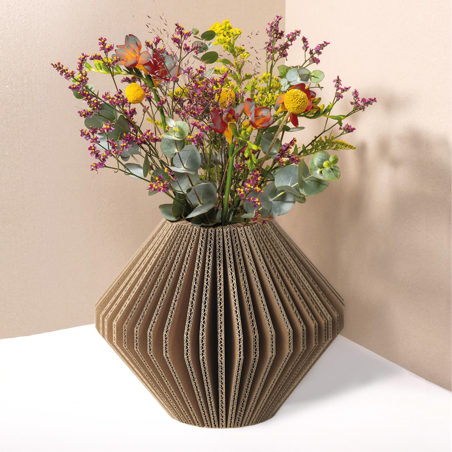 vase pliable en carton - losange