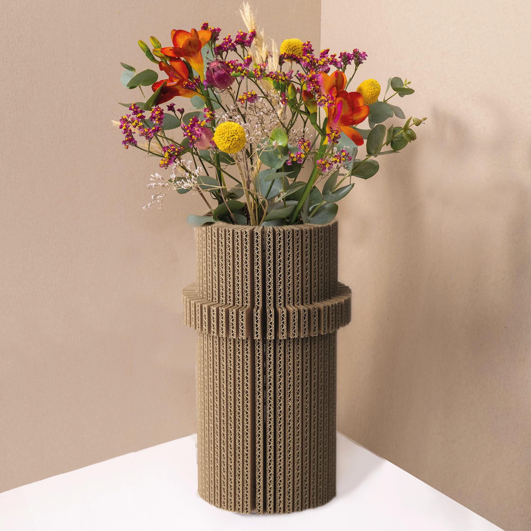 vase pliable en carton - cylindre