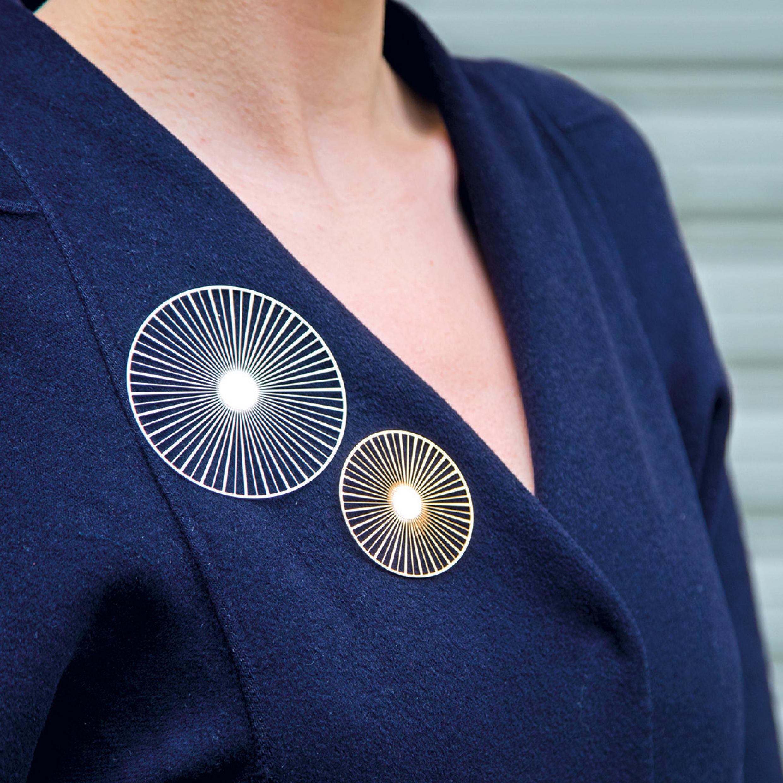 broche magnétique Solar - Design Constance Guisset
