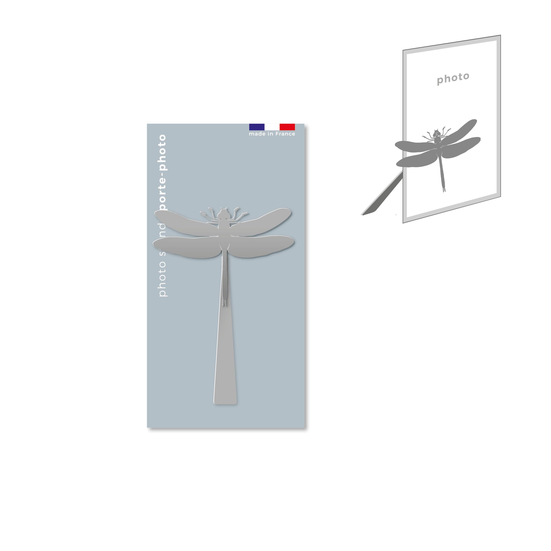 porte-photo magnétique en métal - libellule