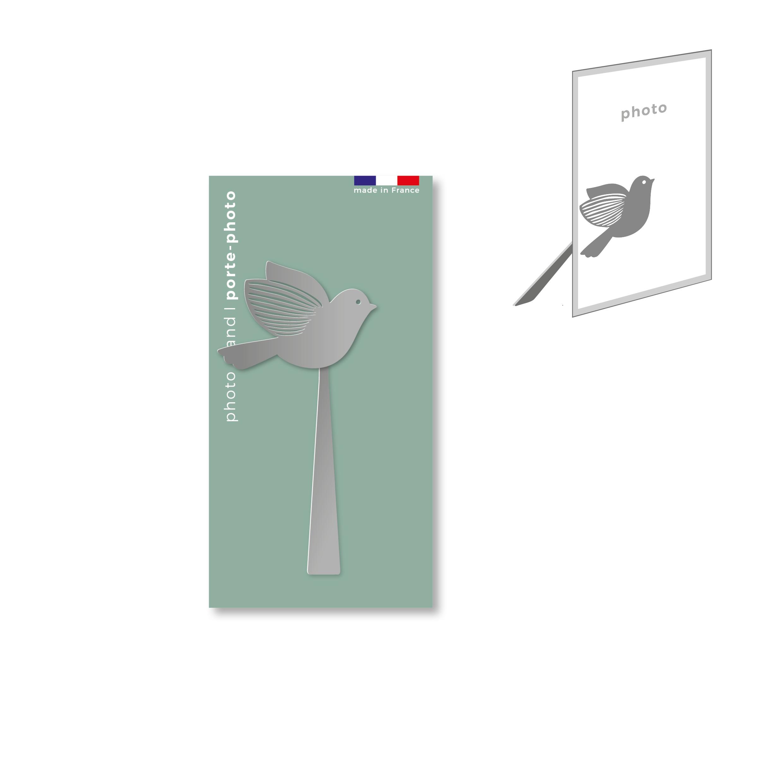porte-photo magnétique en métal - oiseau