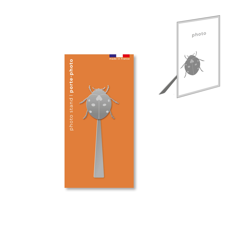 porte-photo magnétique en métal - coccinelle
