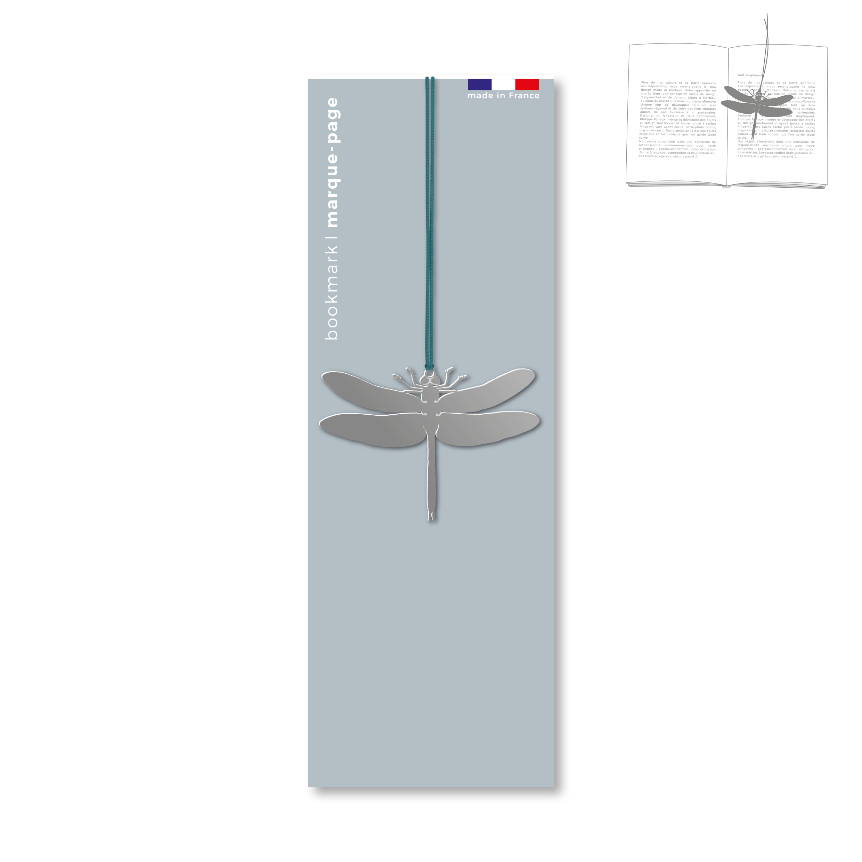 marque-page en métal - libellule