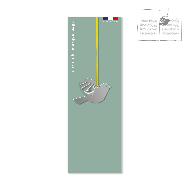 marque-page en métal - oiseau
