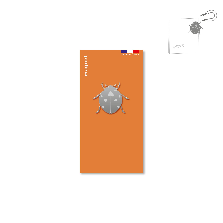 magnet en métal - coccinelle
