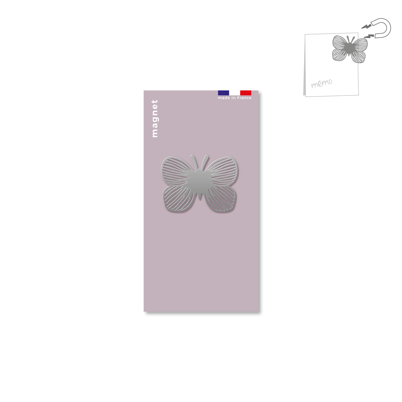 magnet en métal - papillon