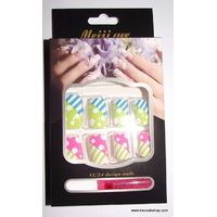 FAUX ONGLES POIS ET RAYURES