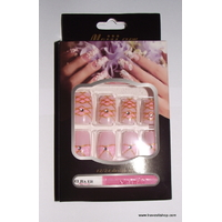 FAUX ONGLES ROSES ET OR