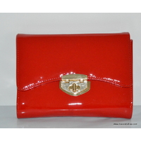 SAC A MAIN POCHETTE ROUGE VERNIS