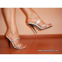 MULES BLANCHES ET STRASS 13 CM 41 AU 47