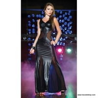 ROBE LONGUE WETLOOK ET TULLE TAILLE L HOMME