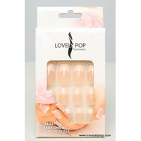 KIT FAUX ONGLES FRENCH ROSE ET BLANC