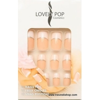 KIT FAUX ONGLES FRENCH ROSE