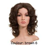 PERRUQUE BOUCLEE BROWN 6