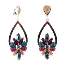 BOUCLES A CLIP GOUTTE MULTI-COLOR