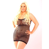 ROBE LARGE RESILLE GRANDE TAILLE