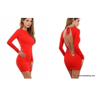 ROBE SEXY ROUGE NID D ABEILLE ML