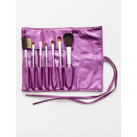 SET 7 PIECES PINCEAUX MAQUILLAGE ROSE