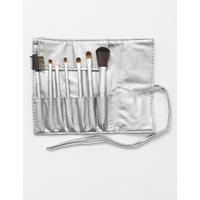SET 7 PIECES PINCEAUX MAQUILLAGE ARGENT